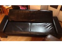 Leather Sofa Bed/Fold up For sale - *Pick Up Only* *West Belfast*