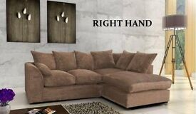 --BEST SELLING BRAND-- BROWN Dylan Jumbo Cord Corner Sofa Suite - SAME/NEXT DAY DELIVERY