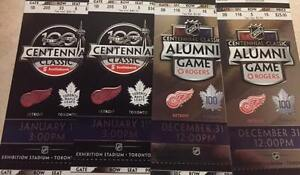 2 Wings vs Leafs Centennial Classic Tickets For Sale Jan 1 @ BMO