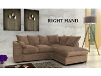 LEFT/RIGHT HAND SIDES -BRAND NEW JUMBO CORD BYRON CORNER / 3+2 SOFA SET -BEST SELLING BRAND