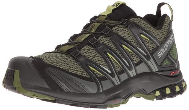 Salomon Men's XA PRO 3D Trail Runner, Chive, 10.5 M US