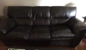 Complete 3 piece leather living room set