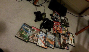[Playstation 2 Console] + 10 games, 3 controllers + memory card