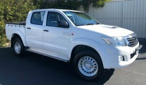 2012 Toyota Hilux KUN26R MY12 SR Double Cab White 5 Speed Manual Utility Devonport Devonport Area Preview