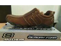 (Brand new) Skechers Men's Diameter - Heisman Shoes - Dark brown - Size 9