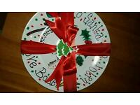 Personalised Christmas eve plate