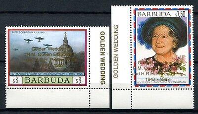 Barbuda 1997 Goldene Hochzeit QE II Königin Elisabeth Royalty 1943-44 MNH