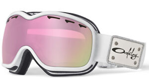 Oakley Stockholm Goggles Pearl White/Pink Irid Lens