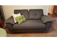 2 SEATER CHARCOAL GREY SOFA - less than 2 years old, rarely used, excellent condition