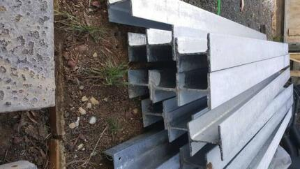H & C Channel retaining wall steel
