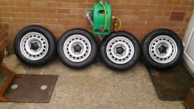 vw caddy wheels 5x112TYRES 4x 195 65 15(95T XL EXTRA LOAD) FOR PSV not alloys a3 a4 a6 pasat octavia