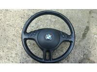 Bmw leather steering wheel