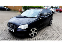 Black Vw Polo 1.4 new shape Alloys Tinted windows low mileage