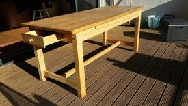 Solid wood dining table for 6 people
