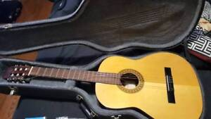 Classical Guitar and Hard Shell Case