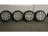 "AUDI A4 B8 S LINE 17"" ALLOY WHEELS & TYRES GENUINE"