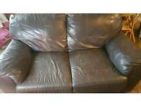Brown sofa x 2 good condition