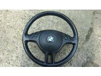Bmw leather steering wheel