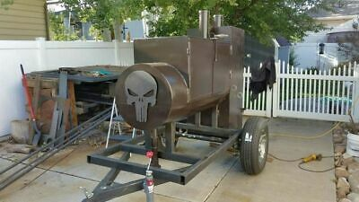 Heavy-duty Reverse Flow Open Bbq Pit Smoker Trailermobile Bbq Unit For Sale In
