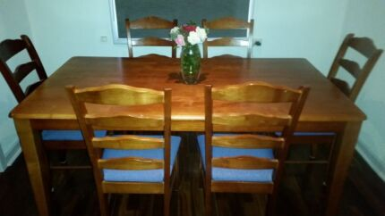 **6 seater Wood Dining Table** Cloverdale Belmont Area Preview