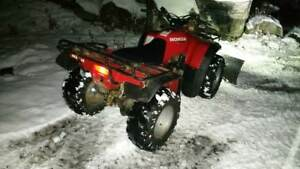 Trade or sell my 1995 HONDA 4x4 Fourtrax with key , papers, plow