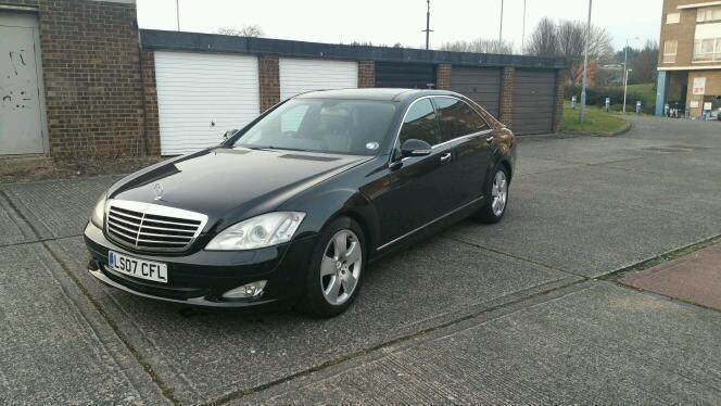 mercedes s class black 2007 s320 cdi l automatic fully loaded
