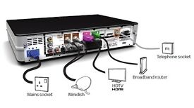 Sky plus hd box can deliver with accesssories