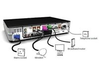 Sky plus hd box with remote plus cables