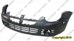 Bumper Front With Fog Lamp Hole Exclude Srt-4 Dodge Neon 2003-2005
