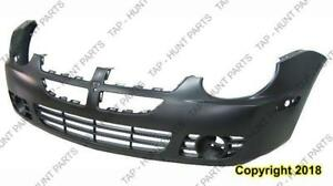 Bumper Front With Fog Lamp Hole Exclude Srt-4 Dodge SX 2.0 2003-2005