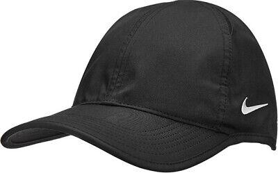 Nike Featherlight Cap Team Aerobill II Hat CJ7082 BLACK Unisex Dri-FIT