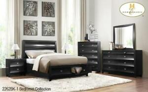 new 8 Pcs bedroom set (included Bed, Dresser, Mirror, Chest and