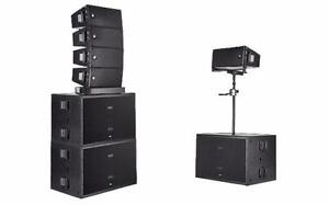LOCATION / RENTAL * RCF SYSTEME * ONE OF THE BEST SYSTEME * SUB SPEAKER * POUR INTERIEUR & EXTERIEUR * MEILLEUR PRIX *