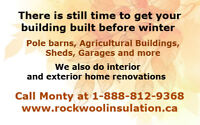 Pole Barns, Agricultural Buildings, Garages, Sheds and More
