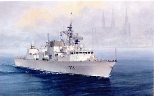 HMCS CHARLOTTETOWN PRINT BY MARINE ARTIST, PAT BURSTALL