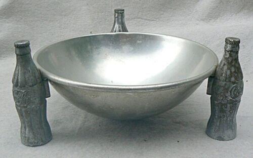 Vintage 1935 Coca-Cola Coke Aluminum Pretzel Chip Dish Bowl Brunhoff Company