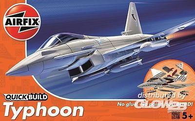 Airfix QuickBuild - Typhoon Stecksystem keine Farben/Kleber Modell-Bausatz 1:72