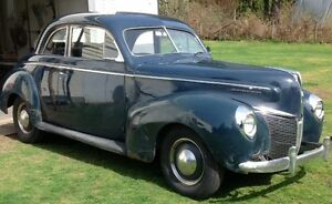 1940 Mercury coupe to trade for a double visible gas pump