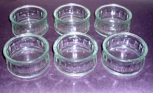 6 glass Ramekins : like NEW : As shown