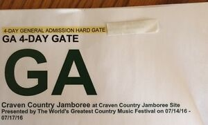 Craven Country Jamboree 4-Day General Admission Gate Pass