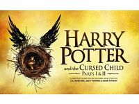 2 x Harry Potter and the Cursed Child Thursday 30th March 19:30