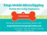 mobile pet microchipping dogs, cats, litters, rabbits, fully insured, discount available