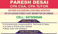 Training for CPA Core 1 & 2 fall exam 2017