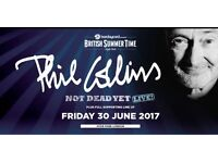 Phil Collins hyde park tickets priority entry