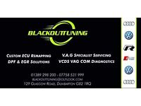 BLACKOUT TUNING VW AUDI SPECIALIST SERVICING - REMAPPING VCDS DIAGNOSTICS CODING
