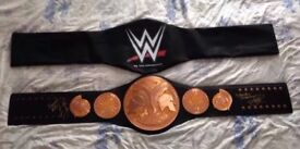 wwe edge & christian signed adult tag belt proof