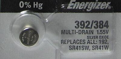 1 Energizer 192 SR41SW SR41W Silver Oxide Watch Battery