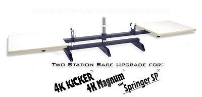 Silk Screen Printing Press Upgrade 2 Station Base - Magnum Kicker Springer Sp
