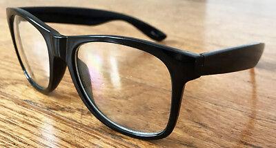 New Black Frame Clear Lens Glasses Vintage Classic Nerd Geek Fashion Retro UV400 (Black Geek Glasses)