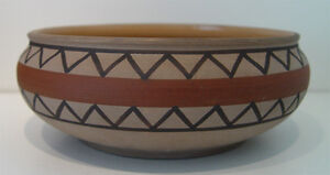 Art Deco Matt Red Clay Poole Etruscan Pottery Bowl